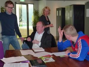 Ralp de Graaf op speeddate Friesland College - maart 2015